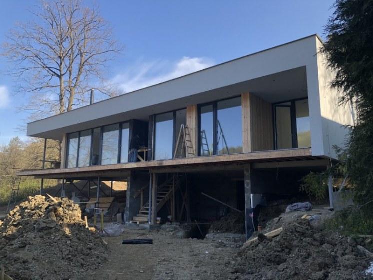 RD Luhačovice - dřevostavba před dokončením